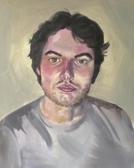 Tom, portrait in oil paints