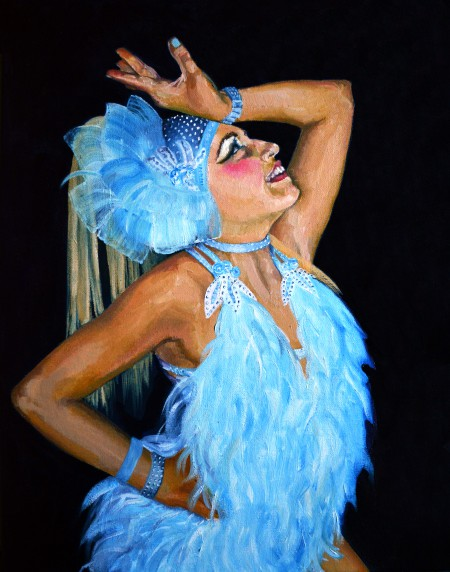 Blue Dancer Portrait